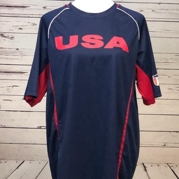 Stryker Other - Styker Futbol Soccer USA Jersey Shirt Large Blue